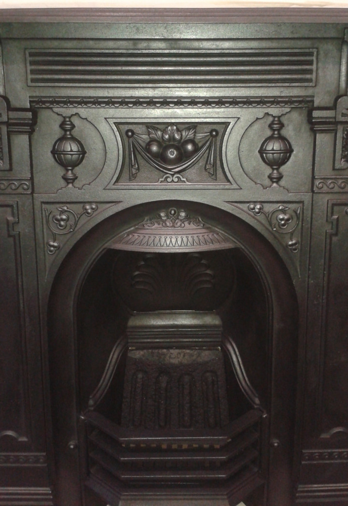 Victorian 30″ cast iron fireplace