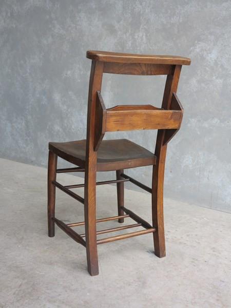 Dark Solid Elm & Beech Church chairs with bible backs