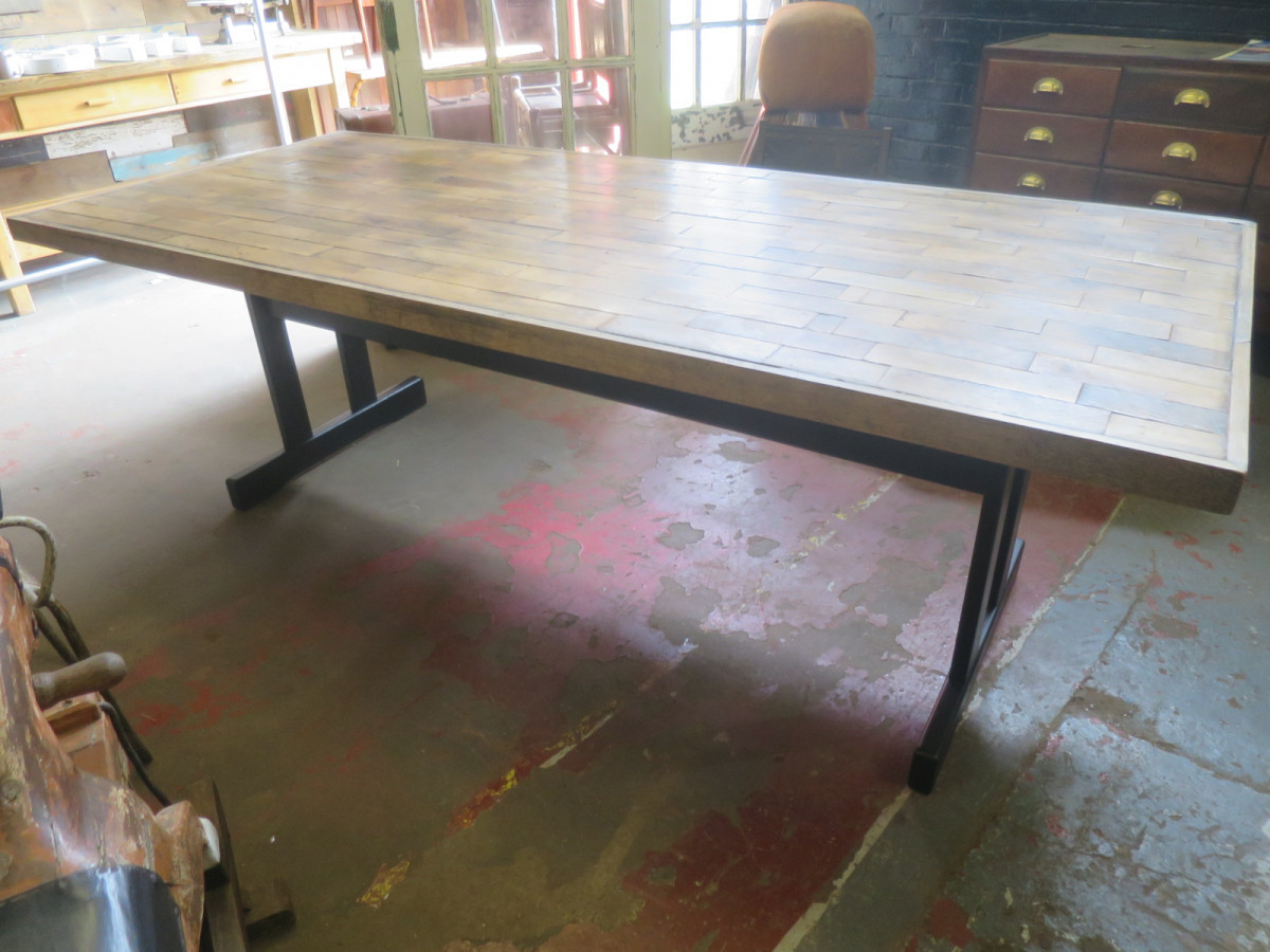 Large Oak Re-Frectory Table