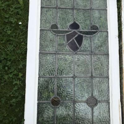 Original Edwardian Stained Glass Windows, set of 4