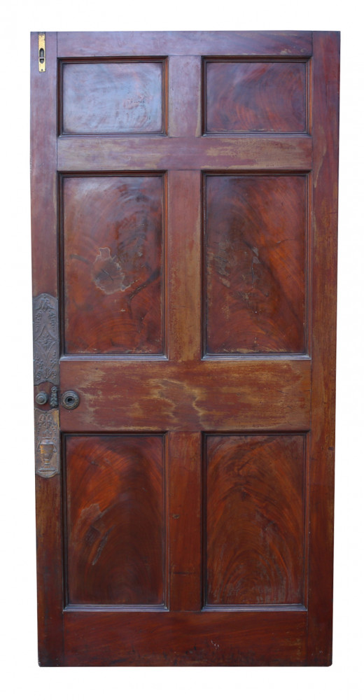 Superb Set Of Six English Mahogany Doors C. 1780