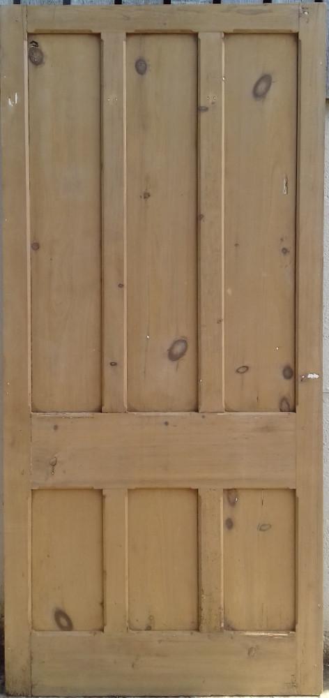 A large Victorian pine panel / 6 panel door