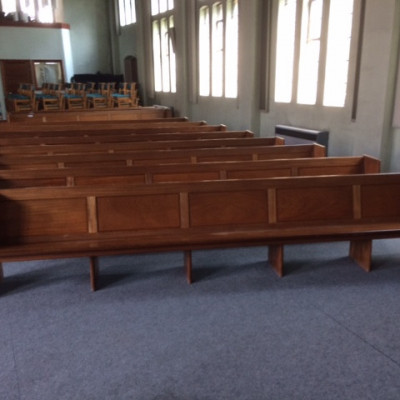 solid hardwood vintage benches pews