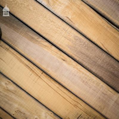 Band Sawn Reclaimed Norfolk Broads Black Bog Oak Floor Boards Wall Cladding