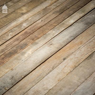 Batch of 10 SqMs of Silvered Seasoned Oak Floorboards Wall Cladding