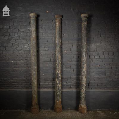 Pair of 19th C Cast Iron Columns with Matching Half Column