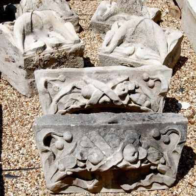 Antique Portland Stone Carved Architectural Elements