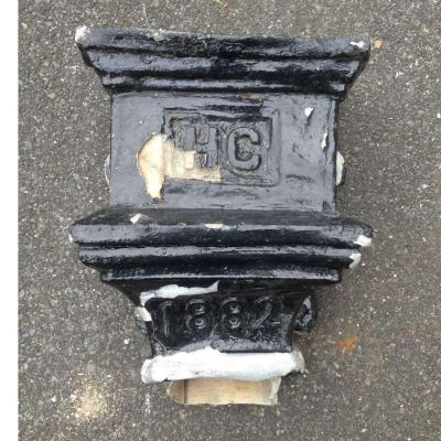 Antique Lead Rain Water Hopper Reclaimed 1882 Architectural Feature h011