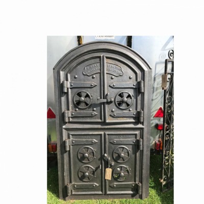 Cast iron stove doors