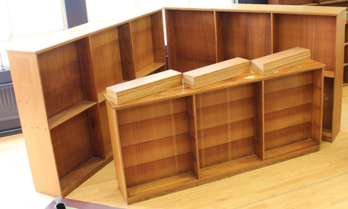Ex School Reclaimed Large Big Library Bookcases Double Sided Shelves Room Dividers