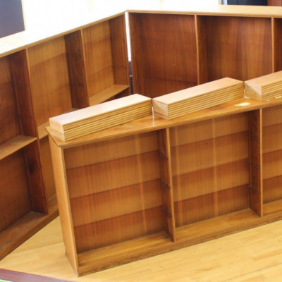 ex-School Reclaimed Large Big Library Bookcases Double Sided Shelves Room Dividers