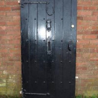 Traditional Black Exterior Door