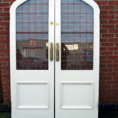 Arched Double Doors in White