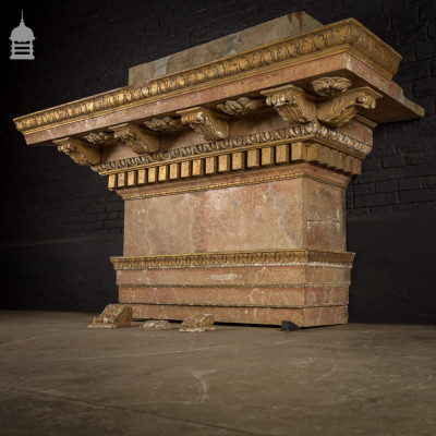 Grand Overhead Gilt Plaster Chimney Piece with Egg and Dart Detail
