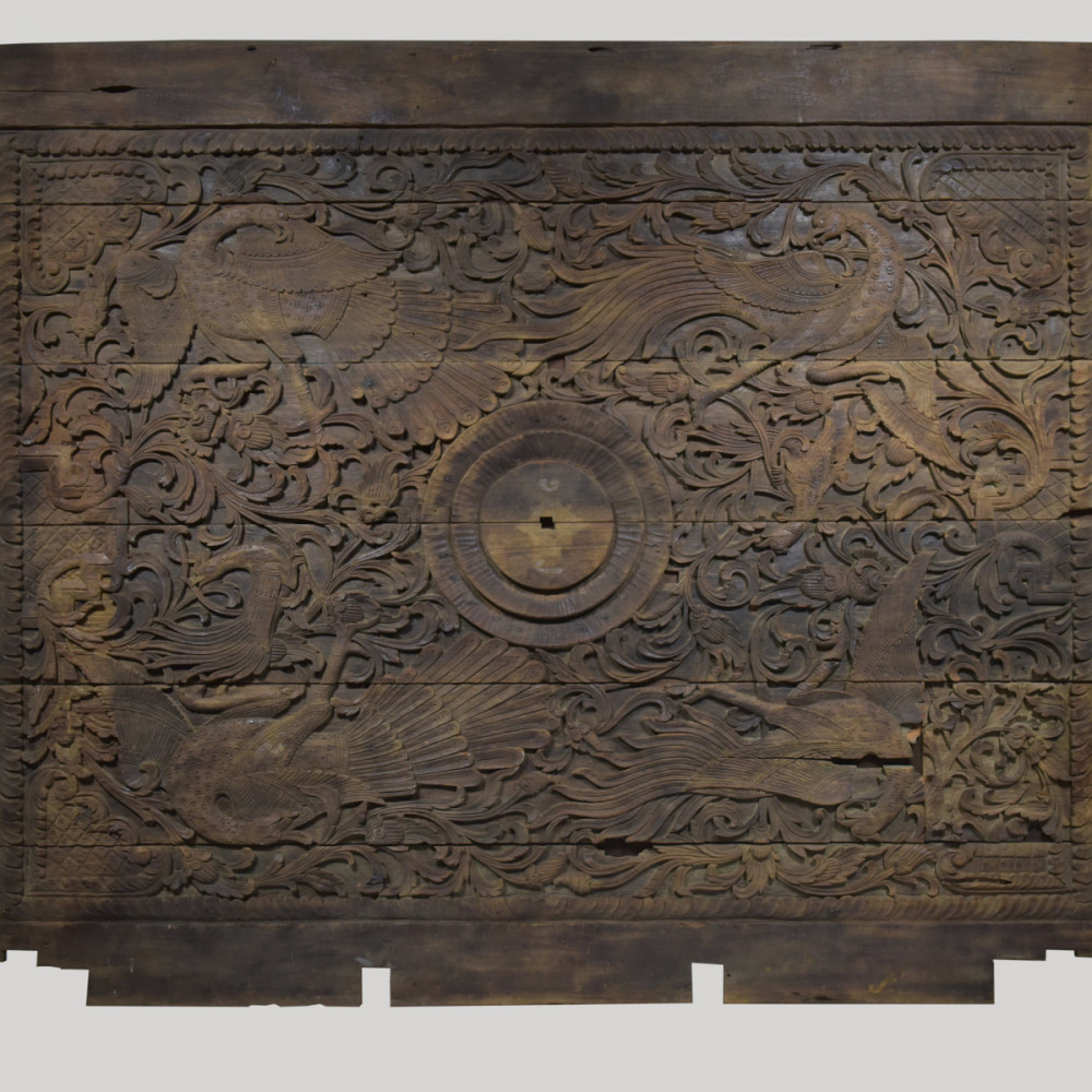 Large Malaysian Relief Carved Antique Ceiling