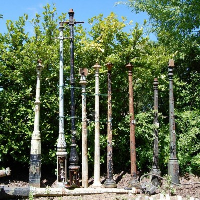 Antique & Reclaimed Cast Iron Lamp Posts