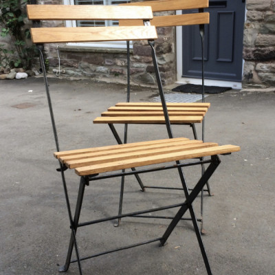 metal framed garden chairs