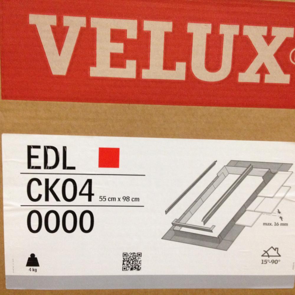 Velux Flashing Kit New Original Slate Roof Application EDL CK04 size 55cm x 98cm