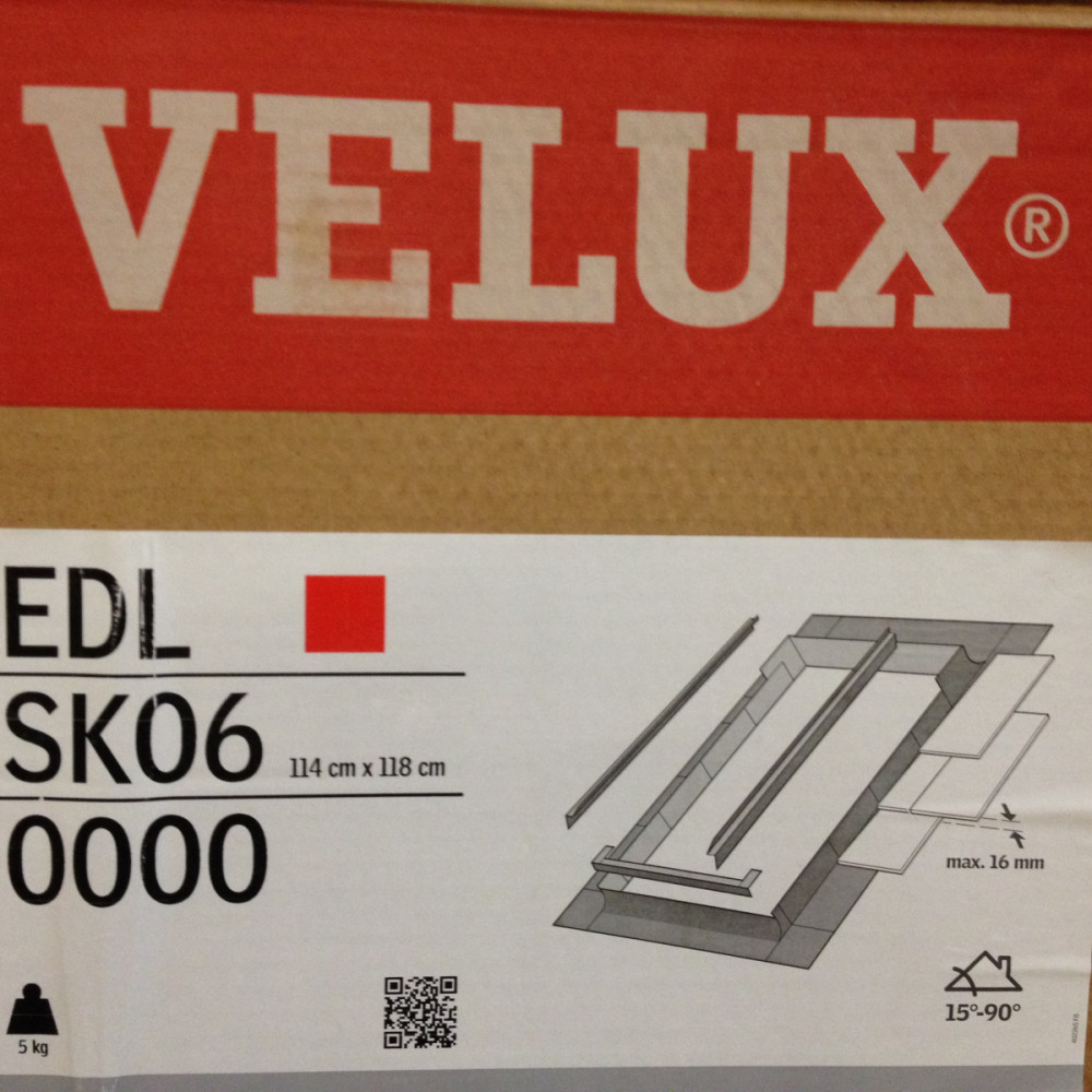 New Rooflight Flashing Kit Velux Flashing Kit New Slate Roof App EDL SK06 size 114cm x 118cm