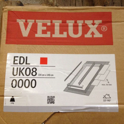 New Rooflight Flashing Kit Velux Flashing Kit New Slate Roof App EDL UK08 size 134cm x 140cm