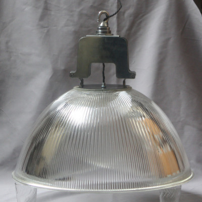 Large Holophane Glass Lamp