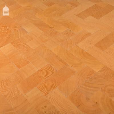 End Grain Columbian Pine Block Parquet Flooring