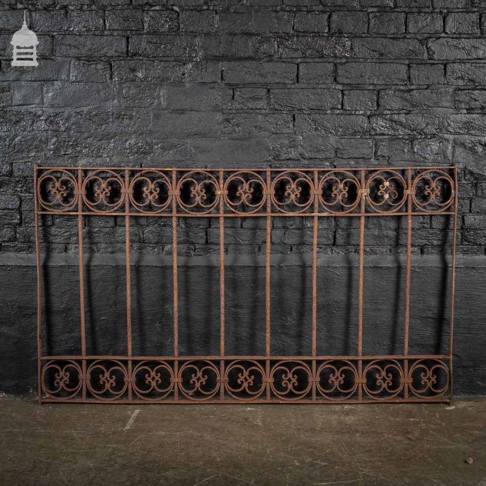 For Sale Decorative 19th C Blacksmith Made Wrought Iron Railing