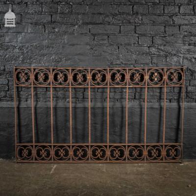 Decorative 19th C Blacksmith made Wrought Iron Railing Panel