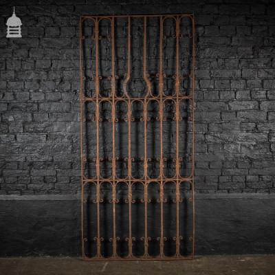 Decorative Georgian Wrought Iron Railing Panel