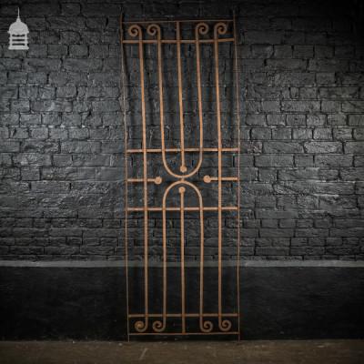 Early 19th C Blacksmith made Wrought Iron Railing Panel