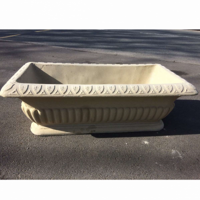 Garden Planter Trough Reconsituted Stone Grecian Style Attractive Fluted Design