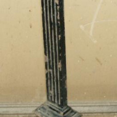 fine set antique  iron balusters