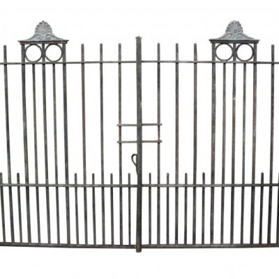 A pair of substantial wrought iron driveway gates C. 1910