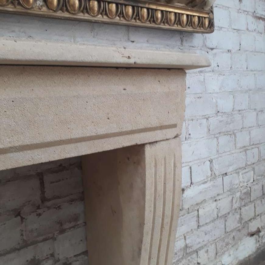 antique stone fireplace chimneypiece