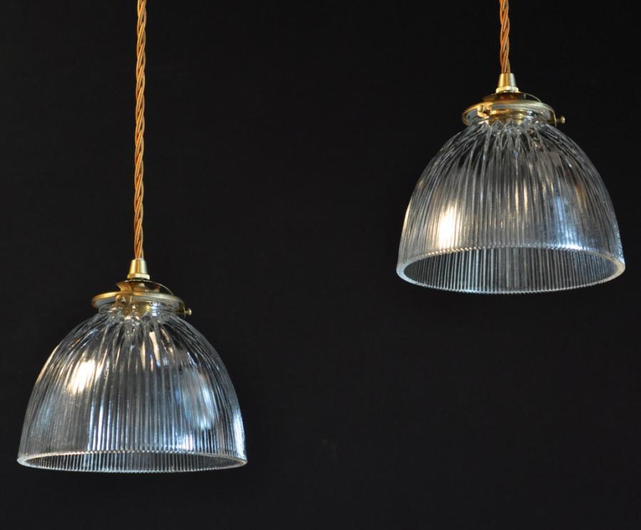antique holophane glass pendants shades