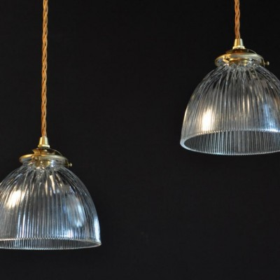 antique holophane glass pendants shades