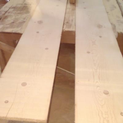 Original face pine boards