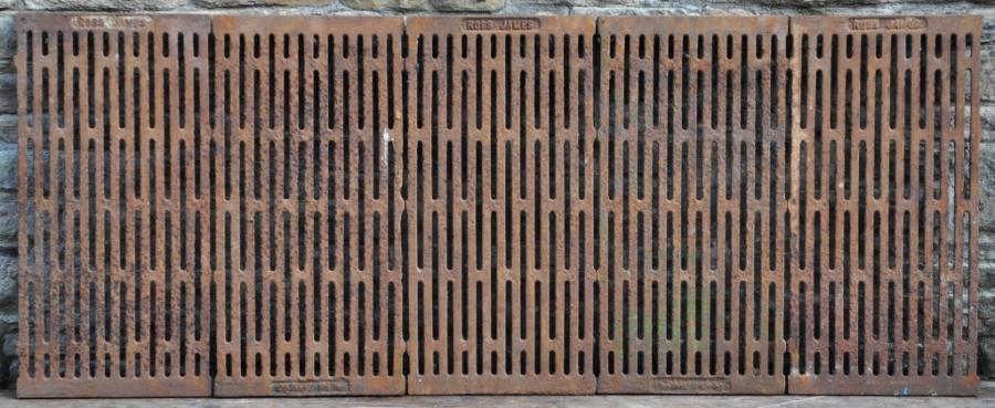 vintage cast iron floor grills