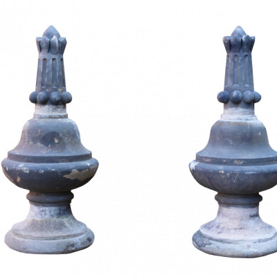 Pair Of Antique Yorkstone Finials