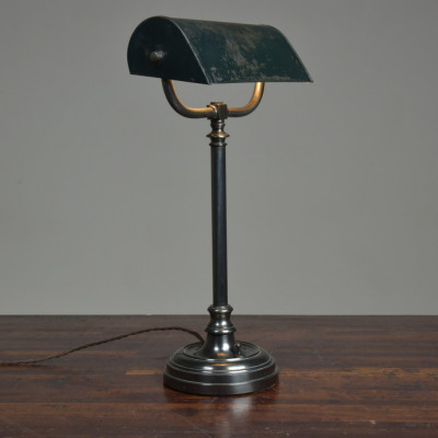 Antique Bronze Bankers Desk Lamp