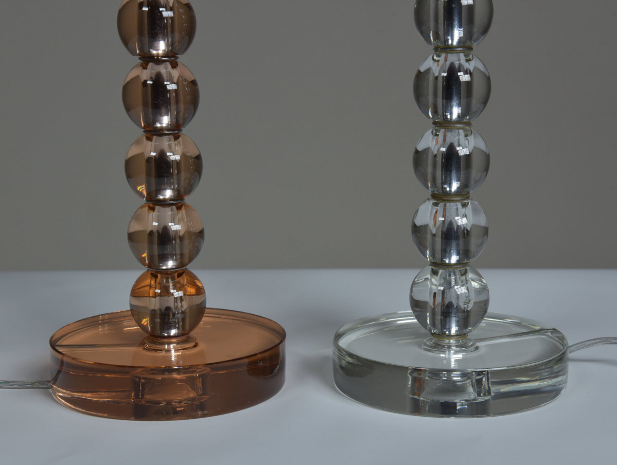 Antique Stacked Glass Ball Table Lamp 2