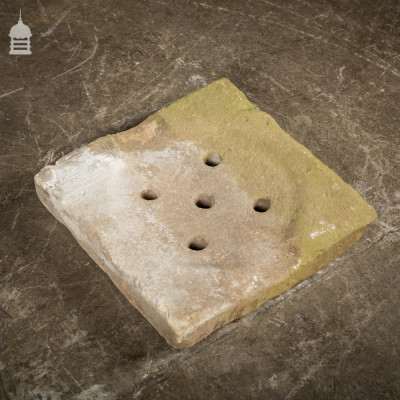 Carved 19th C Sandstone Drain Cover