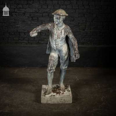 Large Early 19th C Lead Figure on Sandstone Base