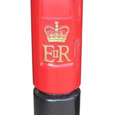 Original Post Office Cast Iron ER II 'Bullet' Pillar Box