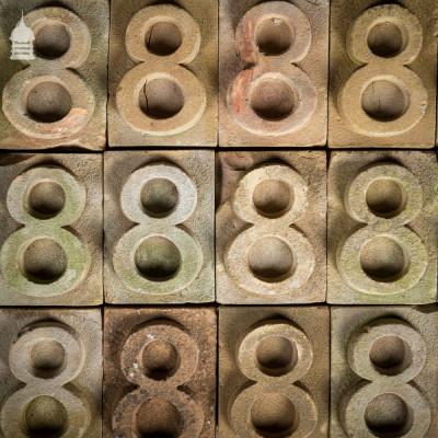 No. 8 Numbered White Brick made at Holkham Hall Brickworks