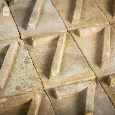 No. 7 Numbered White Brick made at Holkham Hall Brickworks