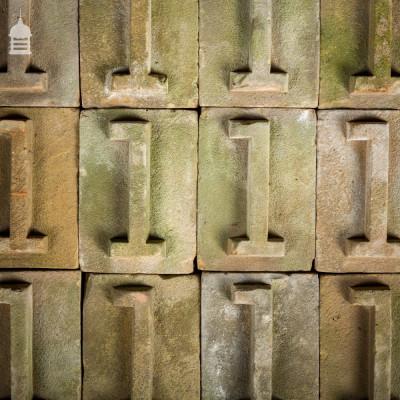 No. 1 Numbered White Brick made at Holkham Hall Brickworks