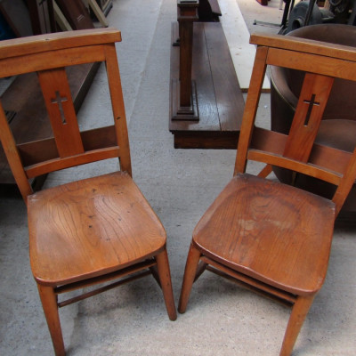 Victorian chapel chair set.