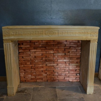 Cheminee pierre style Louis XVI - Antique French fireplace