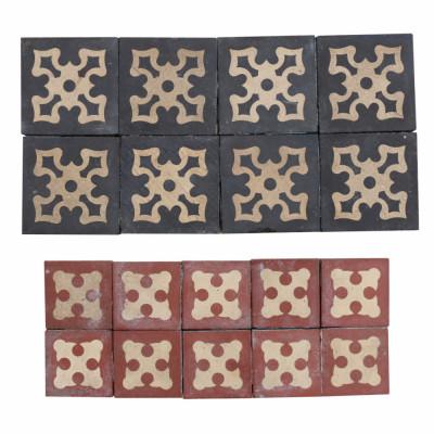 Antique Encaustic Floor Tiles X 18